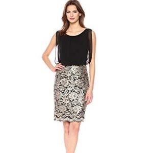 Calvin Klein Women's Chiffon Blouson Dress with Al